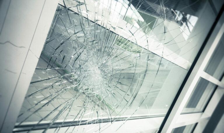 broken window after break-in